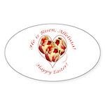 Easter Tulips Oval Sticker (10 pk)