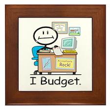 Accountant Budget Framed Tile