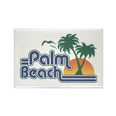Palm Beach Rectangle Magnet