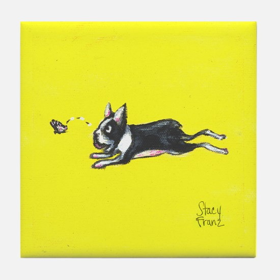 Butterfly Chaser Tile Coaster