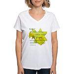 Daffodils, Rejoice Women's V-Neck T-Shirt