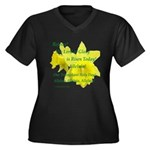 Daffodils, Rejoice Women's Plus Size V-Neck Dark T