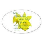 Daffodils, Rejoice Oval Sticker (50 pk)