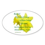 Daffodils, Rejoice Oval Sticker (10 pk)