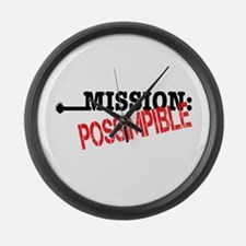 Mission Possimpible Large Wall Clock