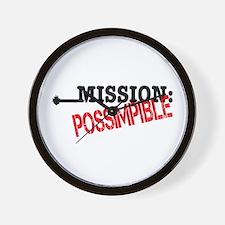Mission Possimpible Wall Clock