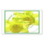 Rejoice, Multi Languages Rectangle Sticker