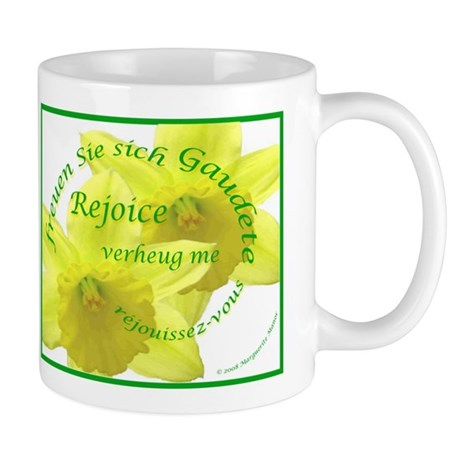 Rejoice, Multi Languages Mug