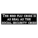Bird Flu and Social Security Crisis Sticker
