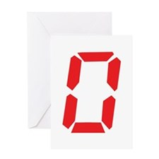 0 Zero alarm clock number Greeting Card