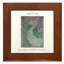 Angel of Hope Framed Tile