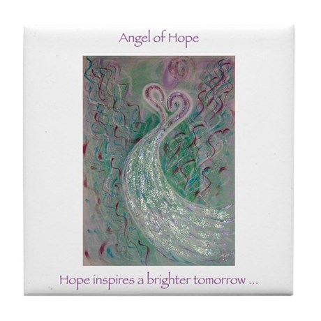 Angel of Hope Tile Coaster
