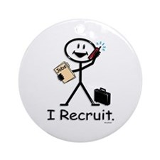 Recruiter Ornament (Round)