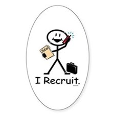 Recruiter Oval Decal