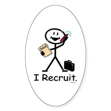Recruiter Oval Sticker
