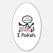 Manicurist Oval Decal