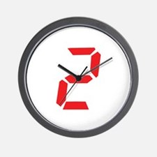 2 two alarm clock number Wall Clock