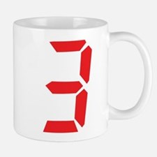 3 three red alarm clock numbe Mug
