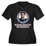 Ronald Reagan Women's Plus Size V-Neck Dark T-Shir