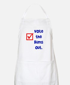 vote the bums out BBQ Apron