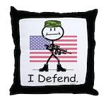 BusyBodies US Military Throw Pillow
