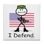 BusyBodies US Military Tile Coaster