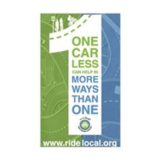 Ride Local One Car Less Decal