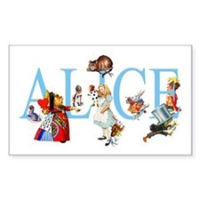 ALICE & FRIENDS Rectangle Decal