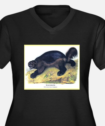 Audubon Wolverine Animal (Front) Women's Plus Size