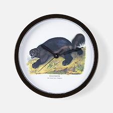 Audubon Wolverine Animal Wall Clock