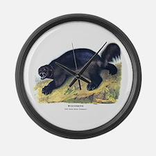 Audubon Wolverine Animal Large Wall Clock