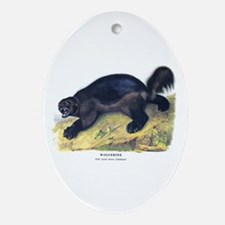 Audubon Wolverine Animal Oval Ornament