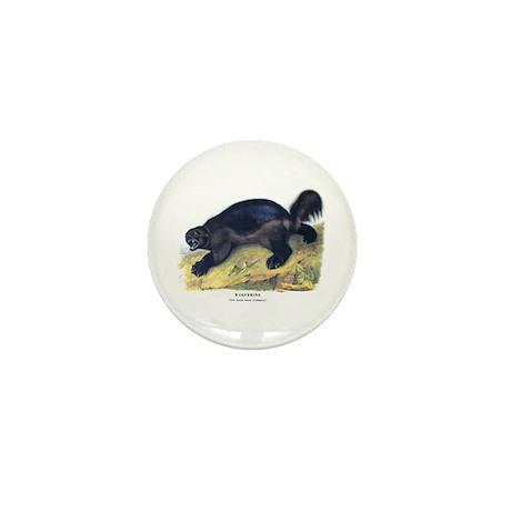 Audubon Wolverine Animal Mini Button