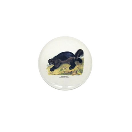 Audubon Wolverine Animal Mini Button (10 pack)