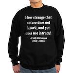 Emily Dickinson 18 Sweatshirt (dark)