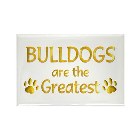Bulldog Rectangle Magnet (100 pack)
