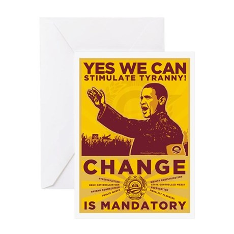 Stimulate Tyranny! Greeting Card