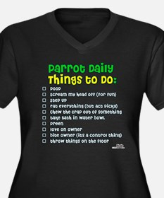 Parrot Things to Do List Women's Plus Size V-Neck