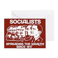 Socialists Obama Greeting Card