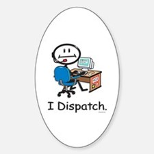 BusyBodies Police/Fire Dispatcher Oval Decal