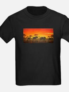 Elephants at Sunset T