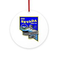 USS Nevada SSBN 733 Ornament (Round)