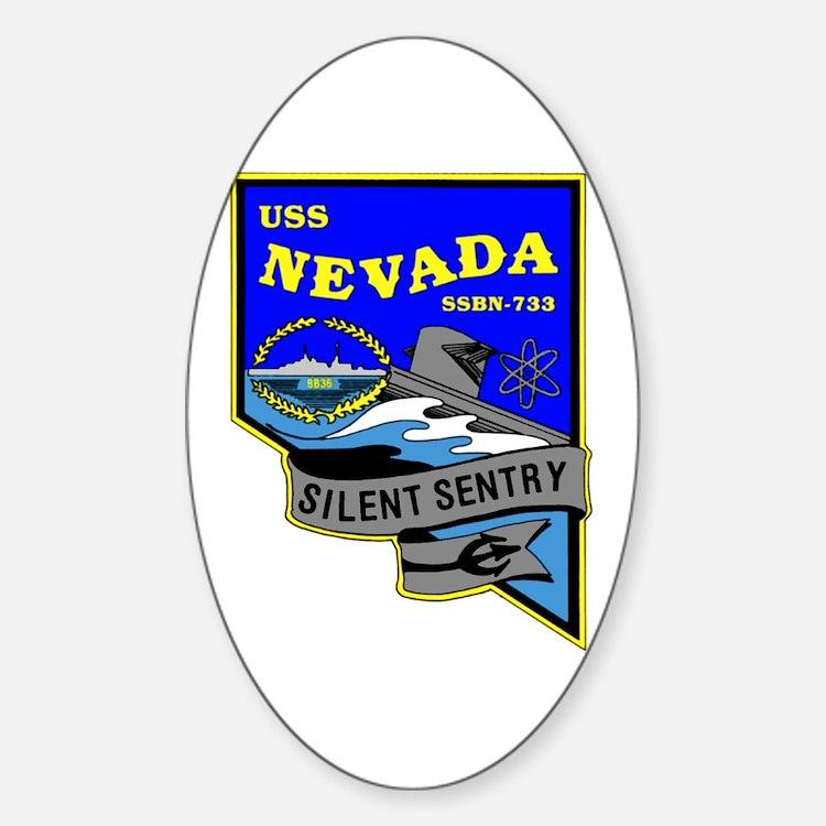 USS Nevada SSBN 733 Oval Decal