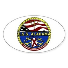 USS Alabama SSBN 731 Oval Decal