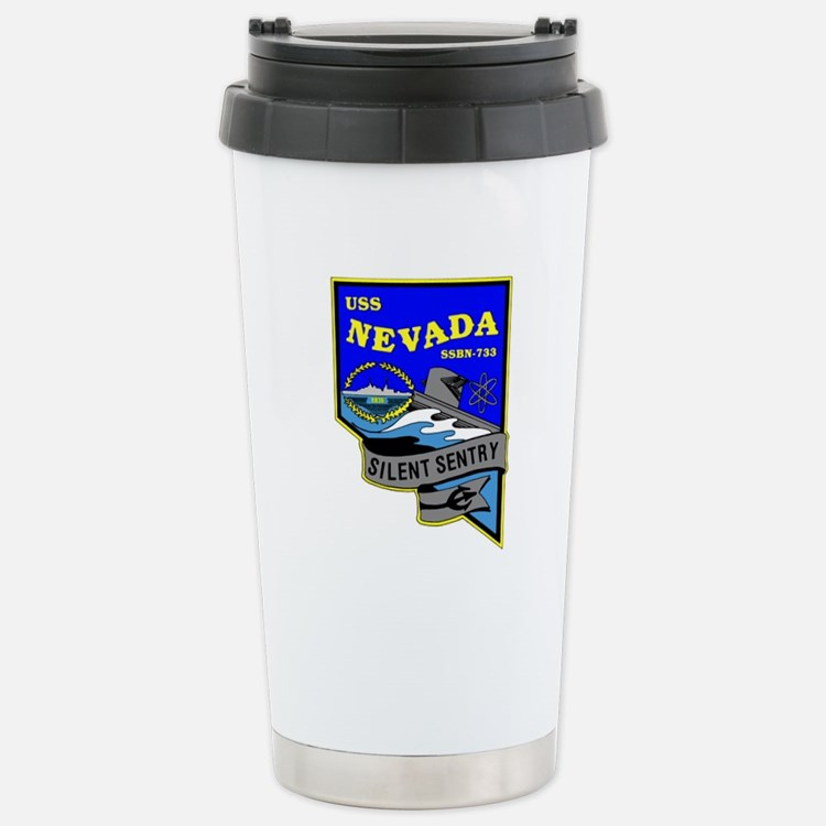 USS Nevada SSBN 733 Stainless Steel Travel Mug