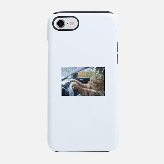 Driving Cat iPhone 7 Tough Case