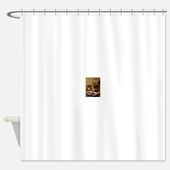 Happy Birthday Pug Shower Curtain