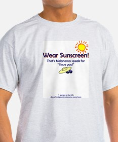 Wear Sunscreen Ash Grey T-Shirt