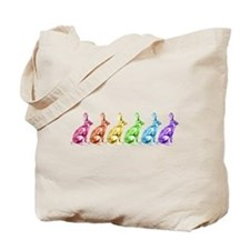 Rainbow Rabbits Tote Bag