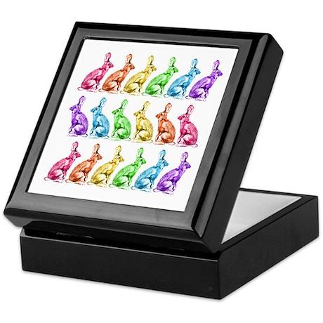 Rainbow Rabbits Keepsake Box